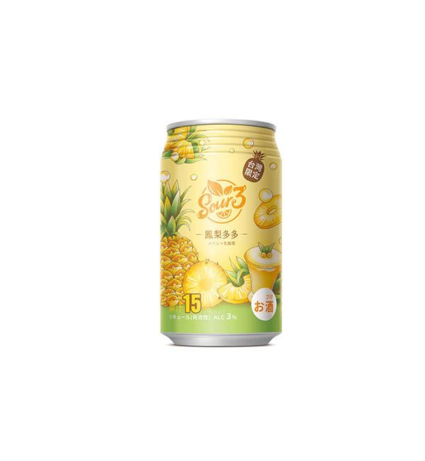 SOUR3沙瓦 鳳梨多多風味 350ml(24入)
