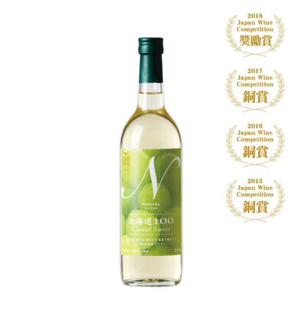 函館 北海道100尼加拉 白葡萄酒 720ml