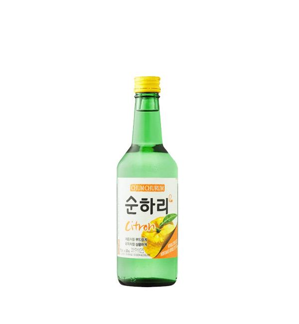 韓國樂天 初飲初樂燒酒 柚子風味 360ml