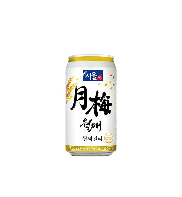 首爾長壽 月梅馬格利酒 350ml(6入)
