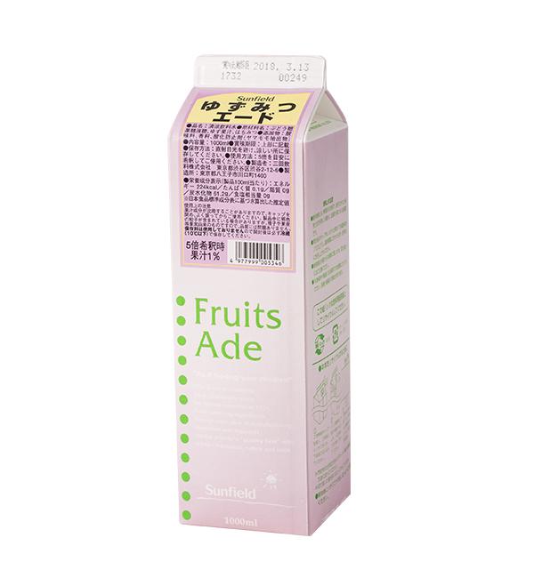 三田飲料 柚子蜂蜜濃縮汁 1000ml