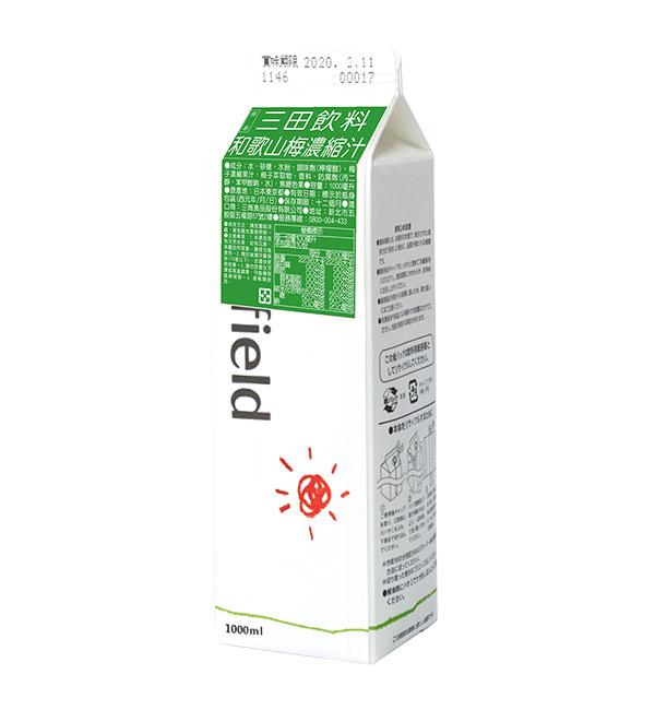 三田飲料 和歌山梅濃縮汁 1000ml