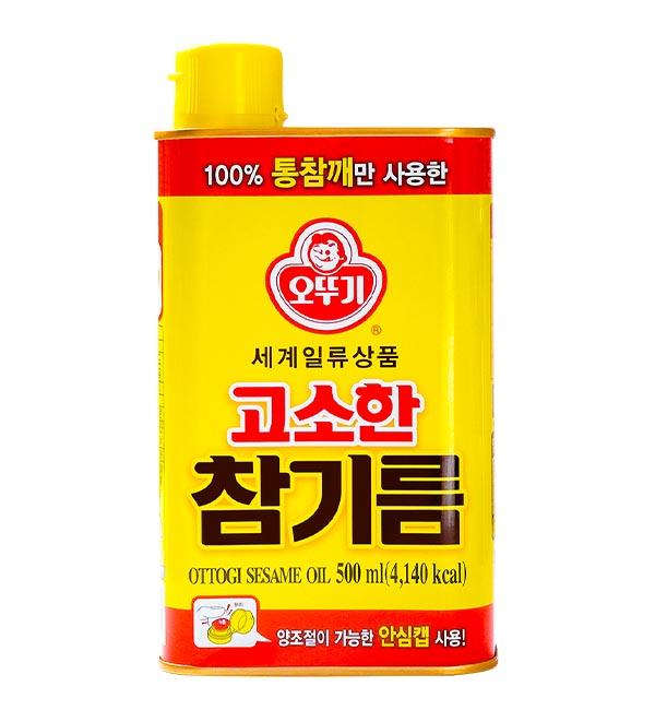 韓國不倒翁 芝麻油 500ml