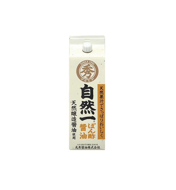丸秀 自然一柚子醬油  300ml